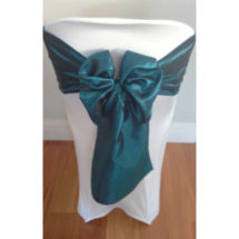 Dark Green Satin Sash