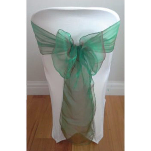 Emerald Two Tone Organza Sash