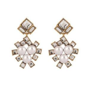 Pearl (faux) Square Jewelry Earrings