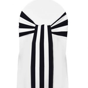 Black-White-Stripe-Sash