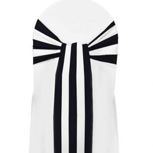 Black-White-Stripe-Sash