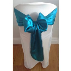 Teal-Satin-Sash